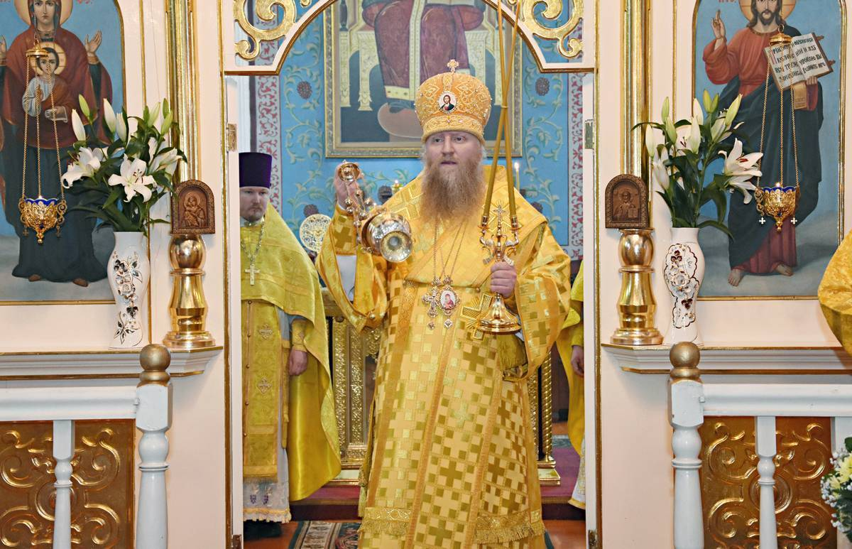 Епископ Евфимий посетил храм Рождества Пресвятой Богородицы с. Ленино