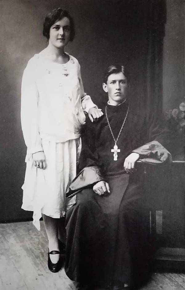 Иерей Николай с Галиной Леонидовной, 1928 г.
